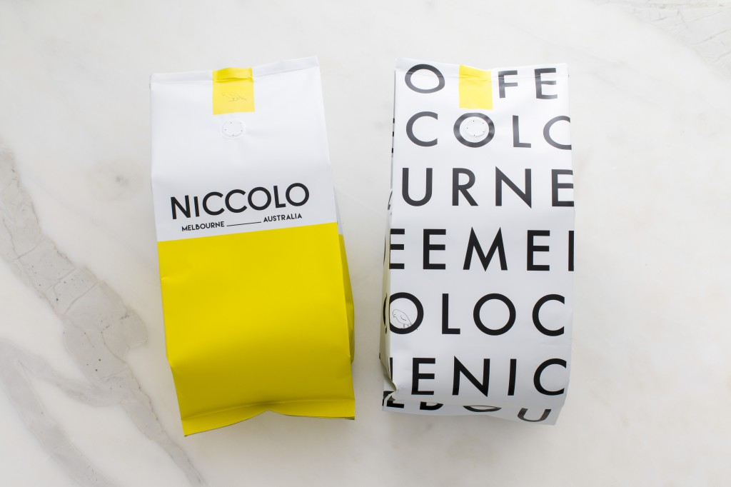 Niccolo Coffee packaging new branding