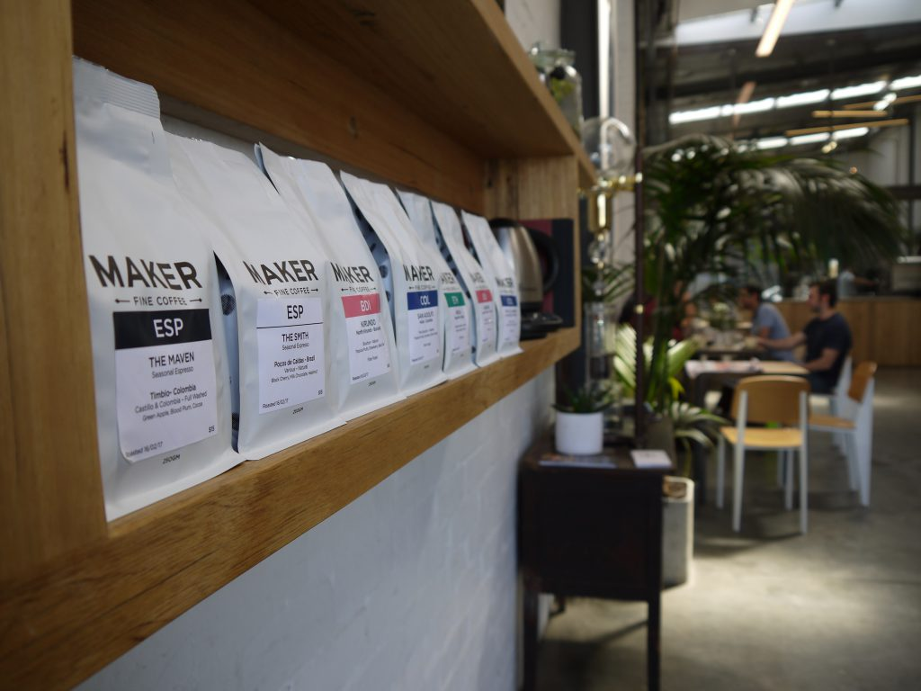 Maker Fine Coffee packaging