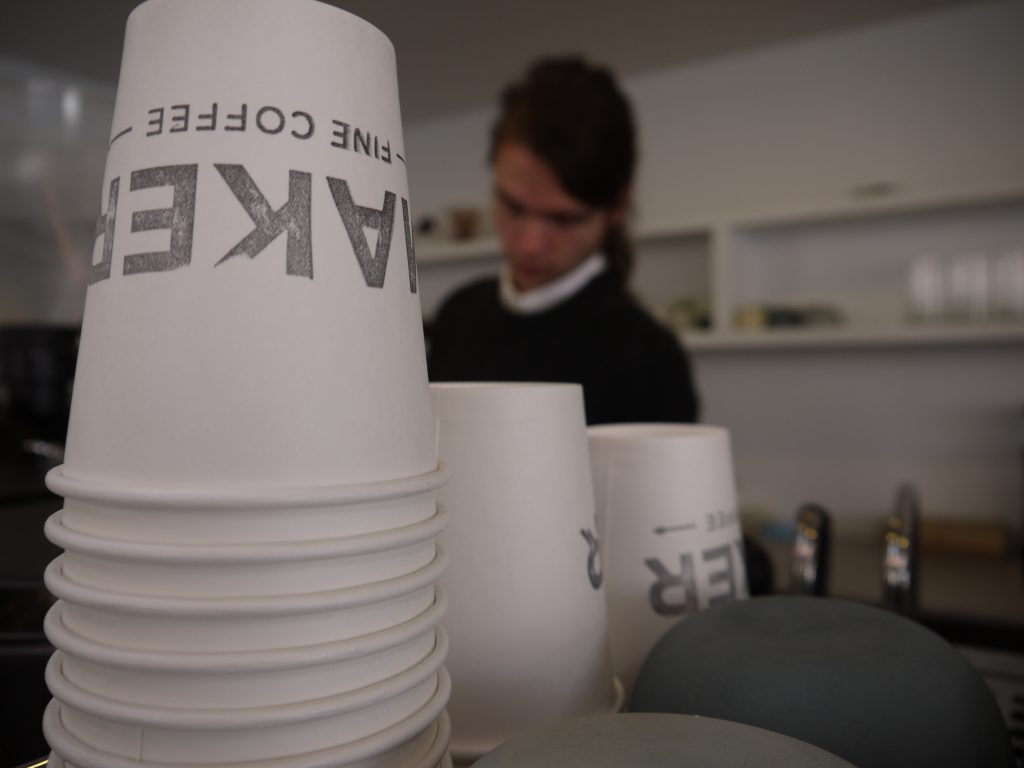 Maker Fine Coffee logo cups