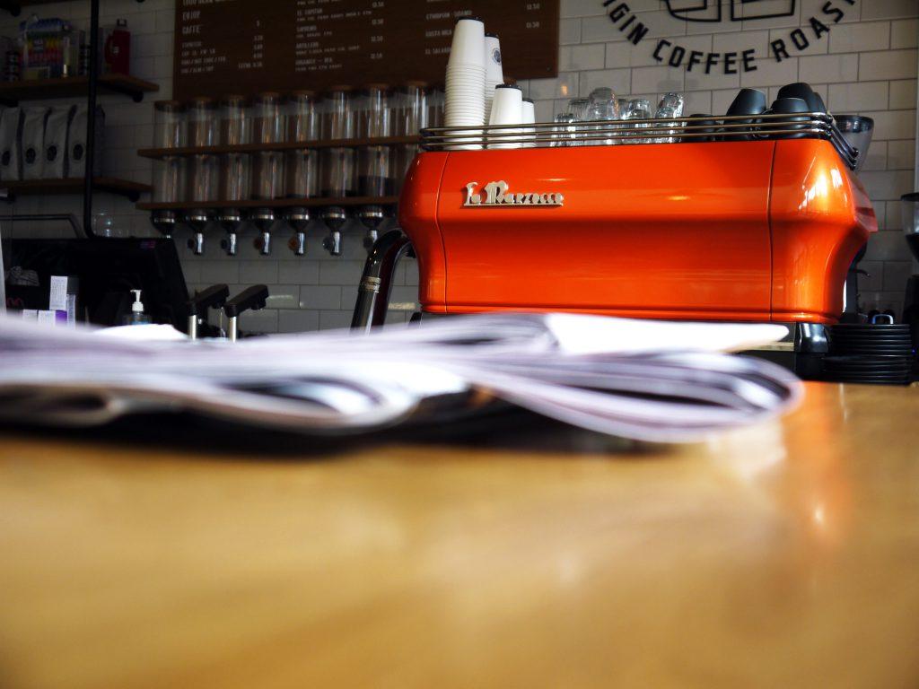The Bean Cartel Origin Coffee Roasters coffee machine