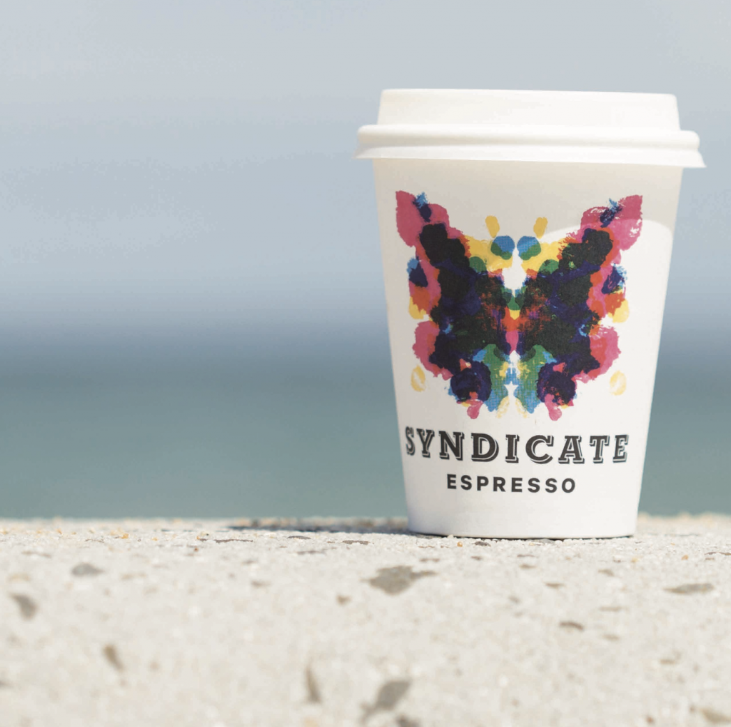 Syndicate Coffee cup beach