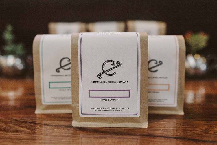 Commonfolk Coffee Roasters packaging
