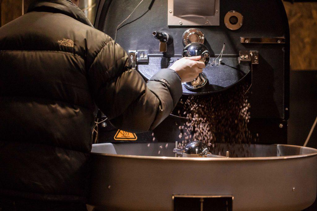 Code Black Coffee Roasters roasting