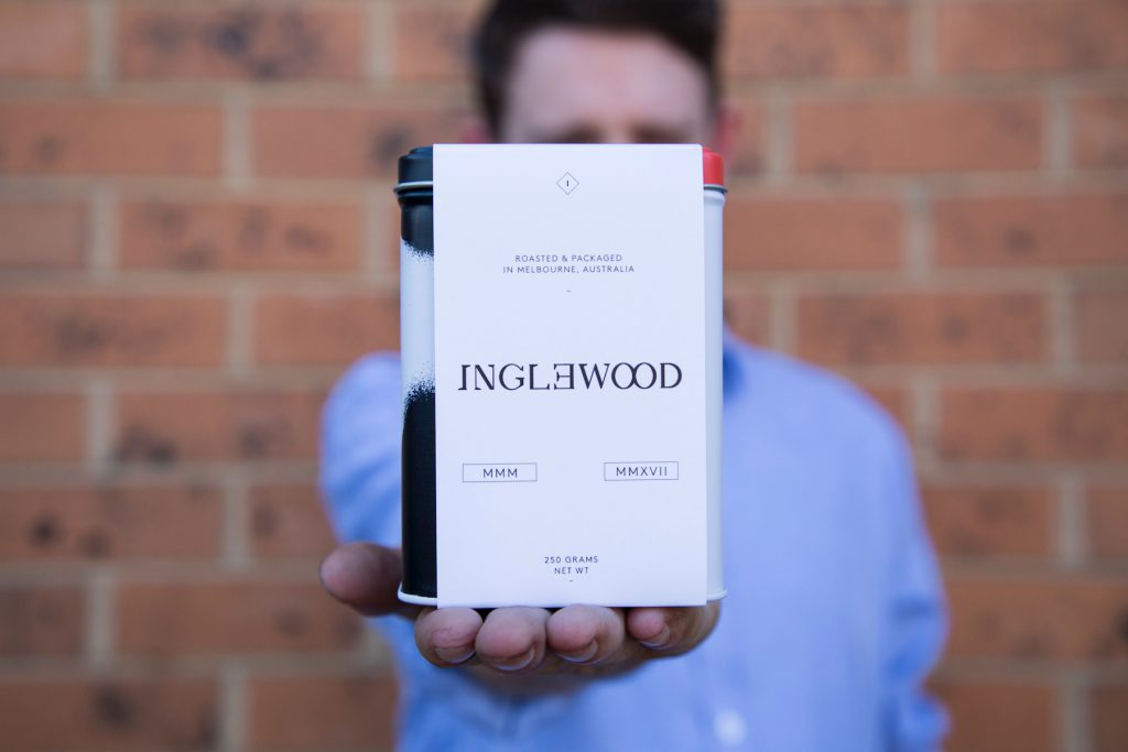 Inglewood Coffee Roasters branding tin