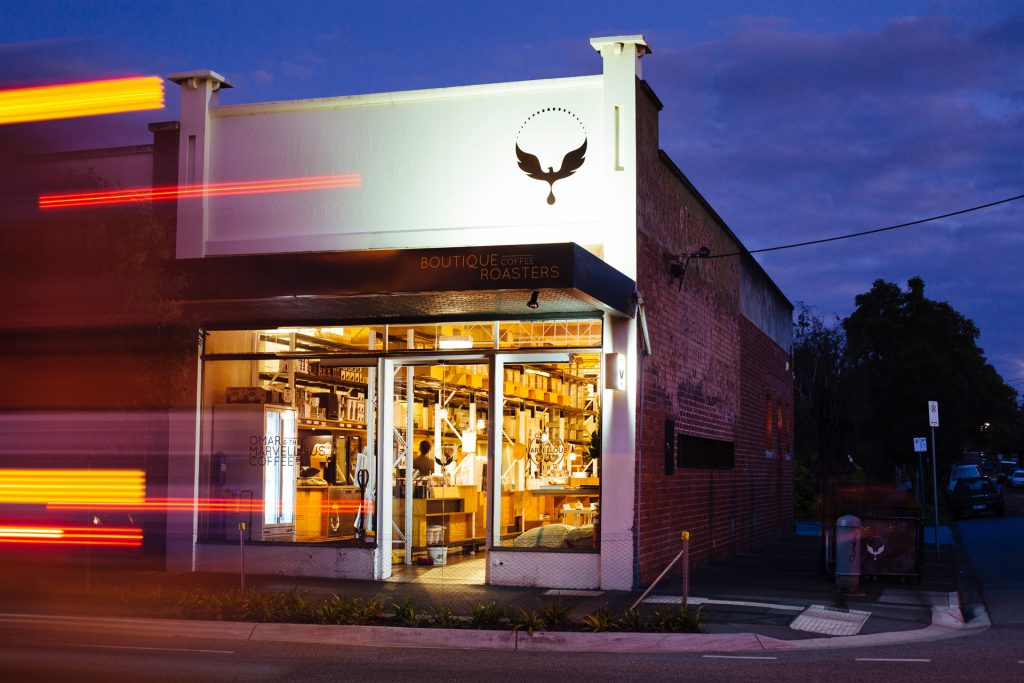 Omar Coffee Bird cafe outside