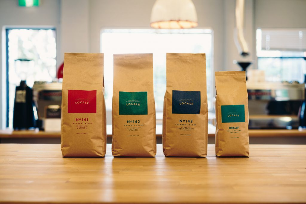 locale espresso coffee packaging