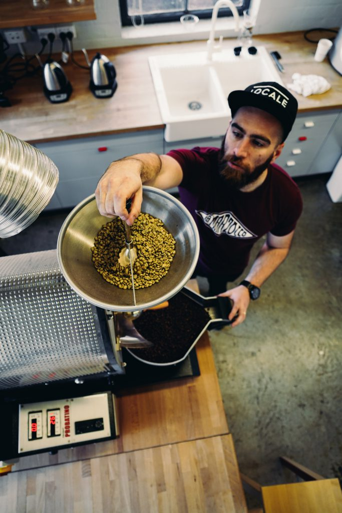 locale espresso coffee roasting green beans