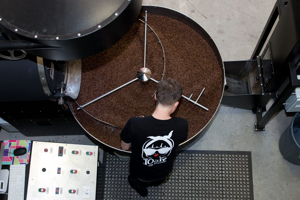 josie coffee roasters roasting from above