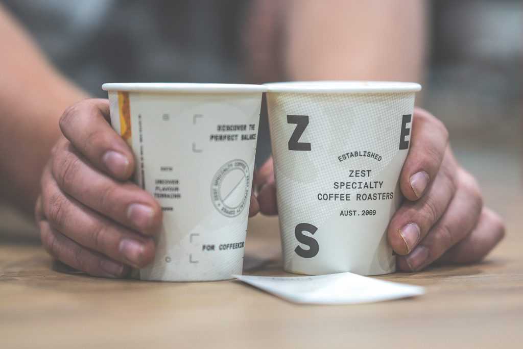 zest specialty coffee takeaway cup