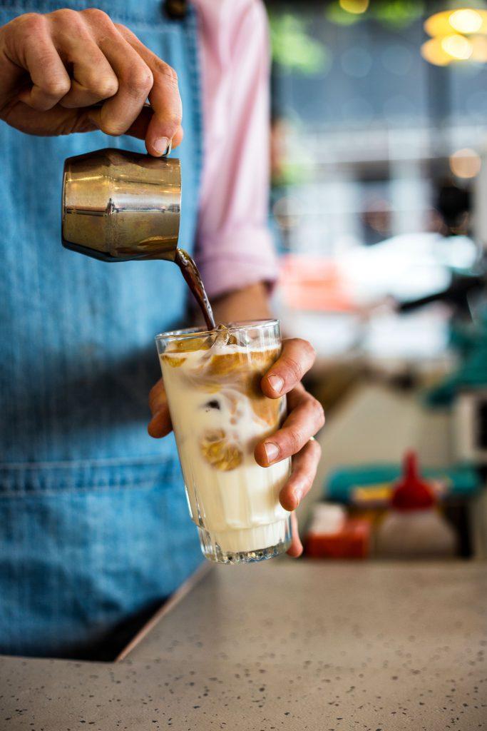 vacation coffee roasters iced coffee glass
