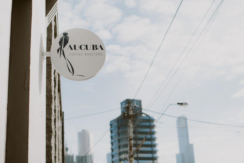 aucuba coffee roasters cafe sign
