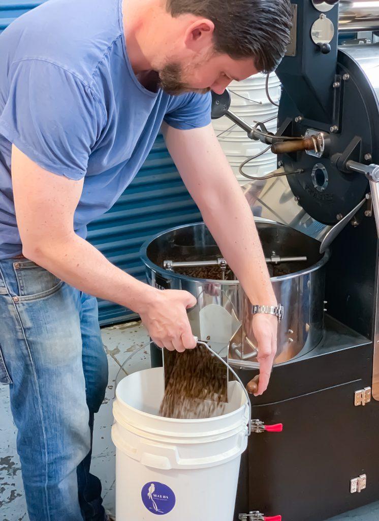 aucuba coffee roasters mark knapp roasting