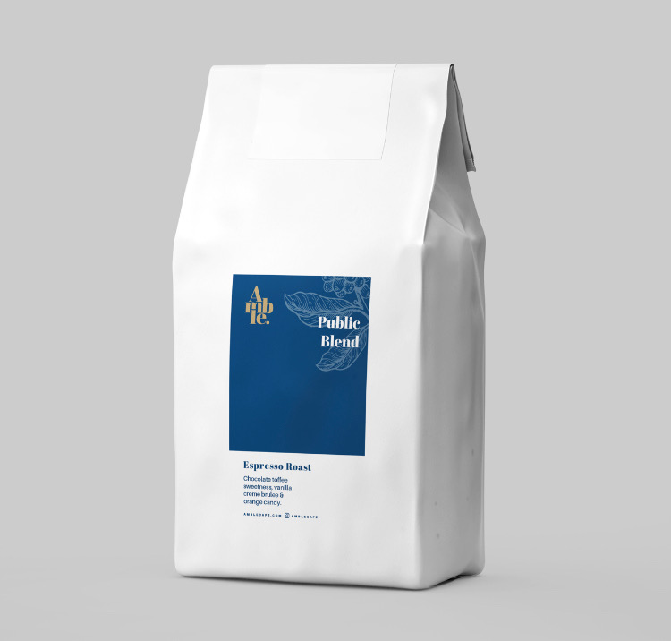 amble cafe packaging