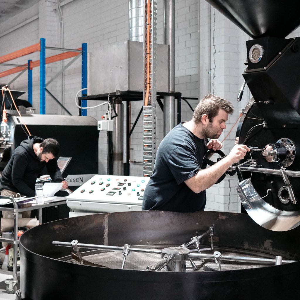 Reverence Coffee Roasters Andreas Martinu roasting