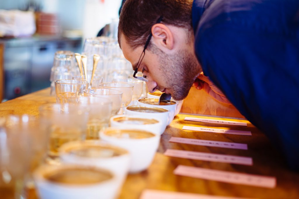 Omar Coffee Bird Andy Gelman cupping