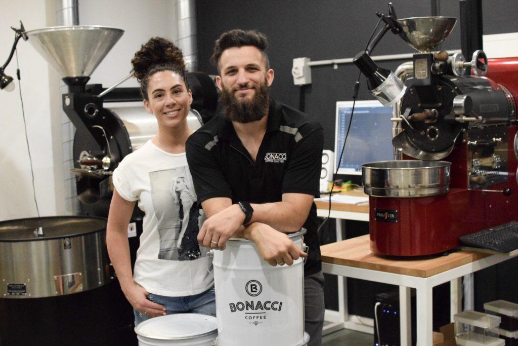 bonacci coffee roasters brendon leah