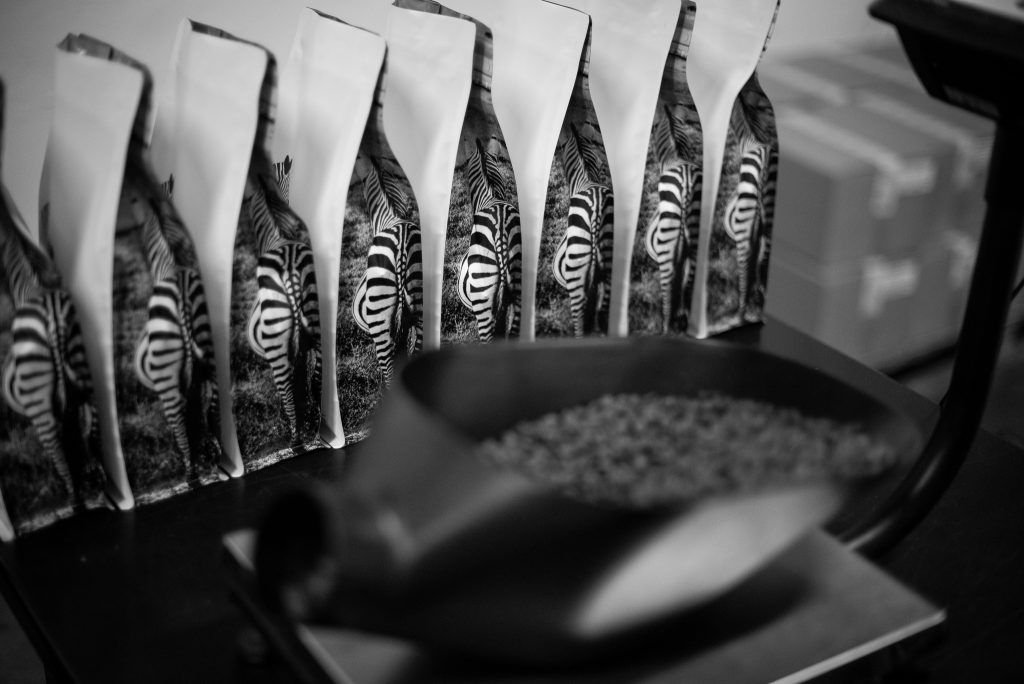 monochrome coffee co zebra packaging