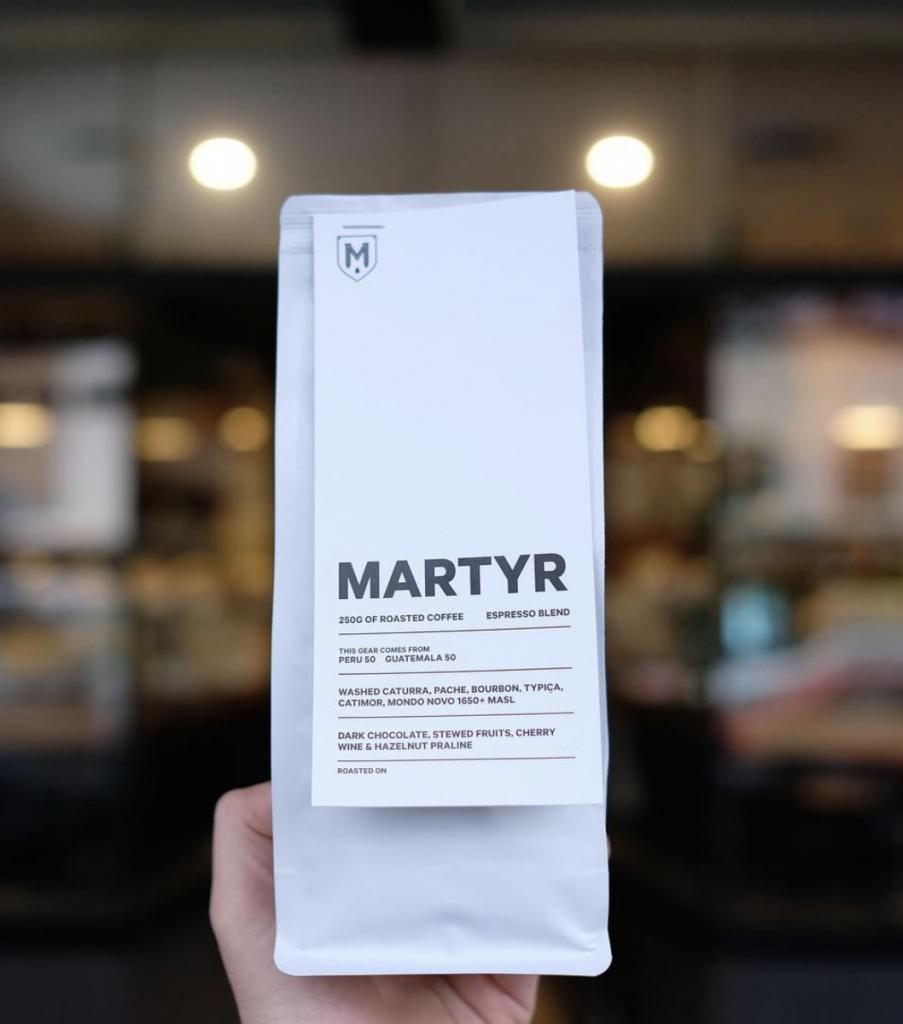 martyr coffee roasters packaging